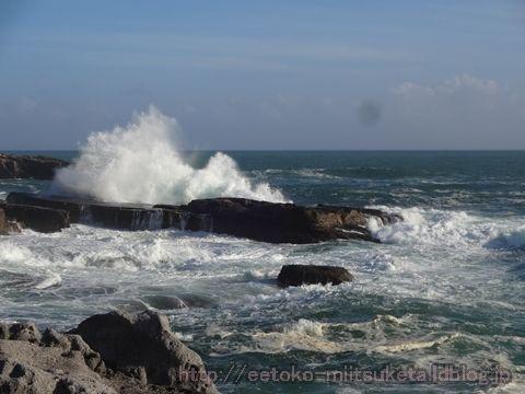 まるで映画のワンシーン!波と岩の千畳敷みぃつけた!