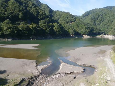 20170827 小渋ダム上流