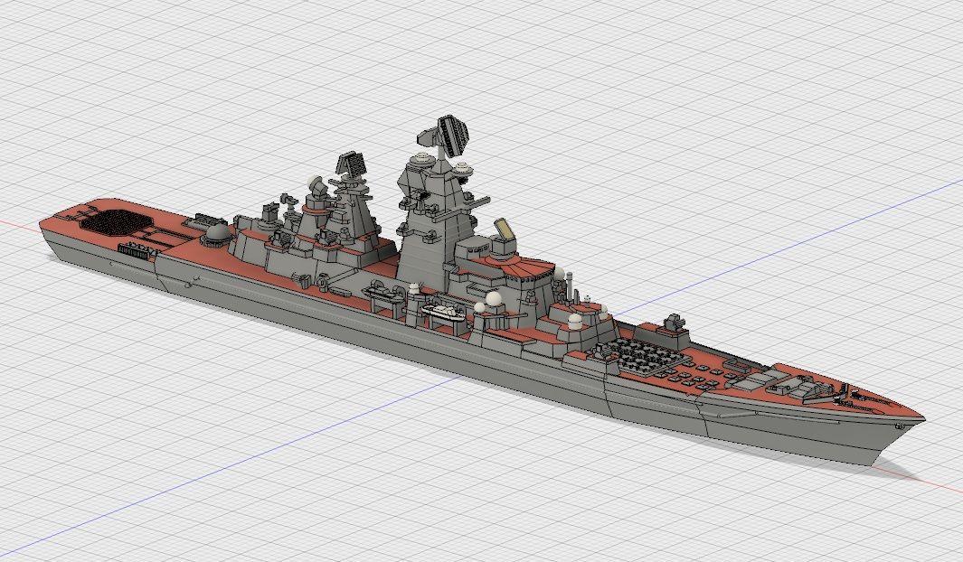 重原子力ミサイル巡洋艦ピョートル・ヴェリーキイのモデリング その3 ...