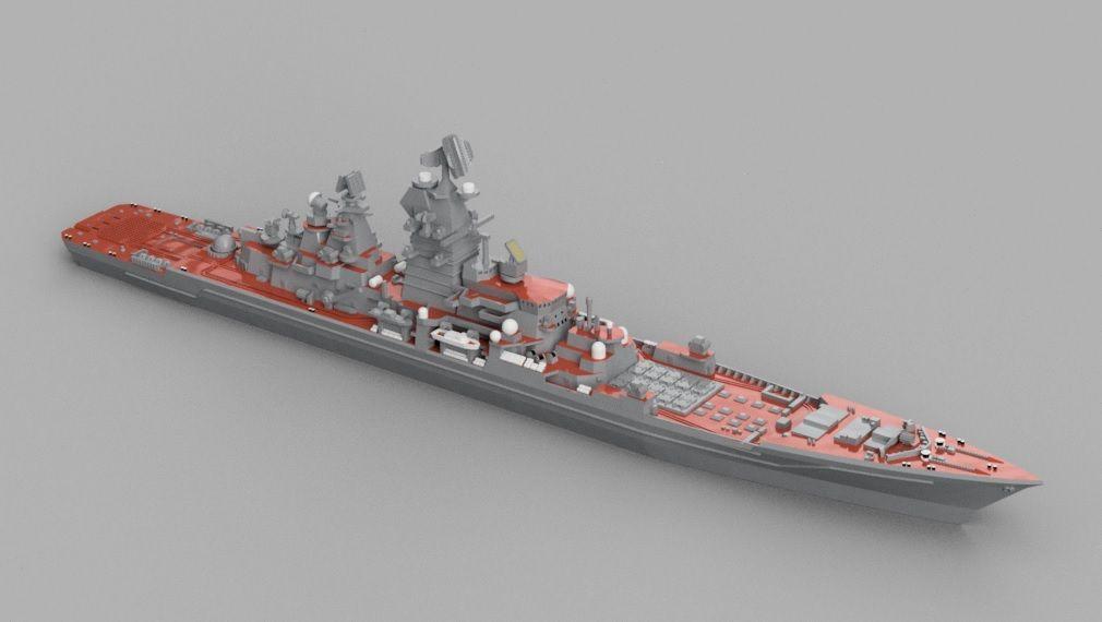 重原子力ミサイル巡洋艦ピョートル・ヴェリーキイのモデリング その4 ...