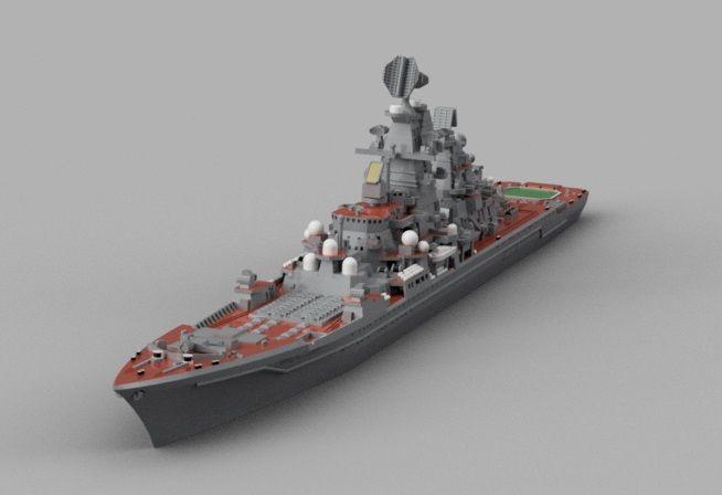 重原子力ミサイル巡洋艦ピョートル・ヴェリーキイのモデリング その5 ...