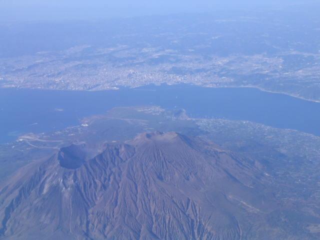 櫻島噴火口が二個?