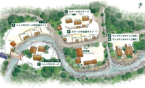 明ヶ島キャンプ場マップ