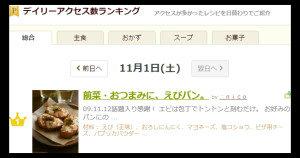 20141102デイリーアクセスえびパン。ap