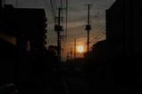 仁王小路の夕日