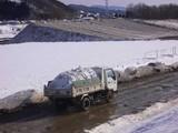 南大橋雪捨て場