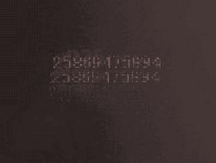 黒い数字A