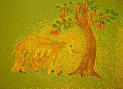 大地と樹そして動物O