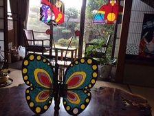 テーブルの蝶 凧展