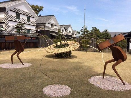 野崎邸宅 竹アート全景