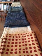 布展 洋間の布