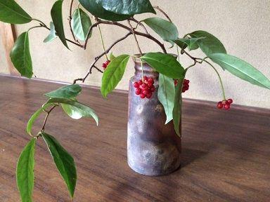 美男カズラ 花瓶