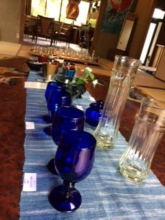 中央テーブル ガラス