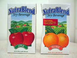 NutraBlendのフルーツ味豆乳