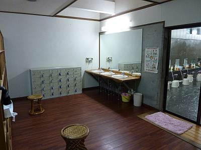吉井温泉 牛伏の湯の脱衣所