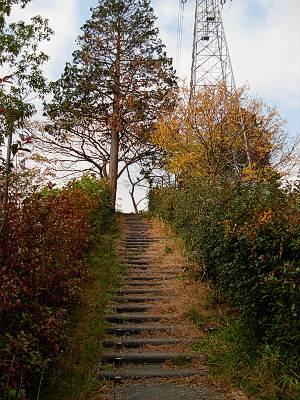 横浜市戸塚区吉田町あたりの高台へ登る道