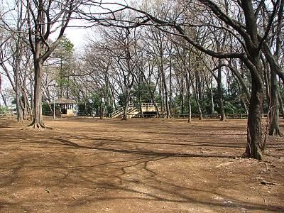 朝霞城山公園の頂上部分