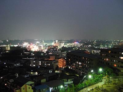 横浜市戸塚区吉田町あたりからの戸塚の夜景