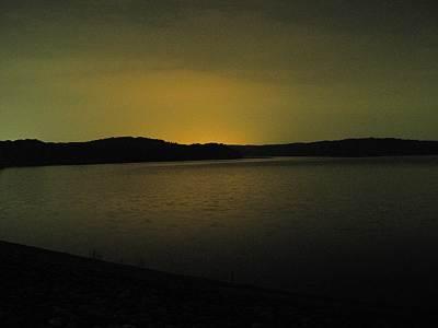 夜の狭山湖