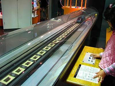 多摩六都科学館 リニアモーターカーの模型
