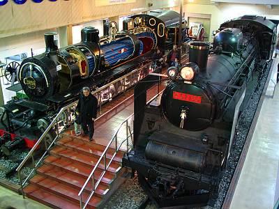 交通博物館の中にある機関車