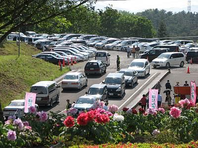 東松山ぼたん園の駐車場
