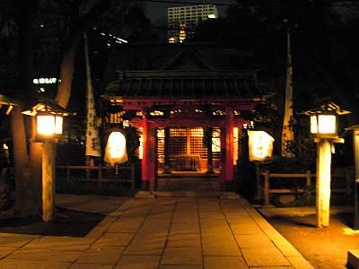 夜の愛宕神社