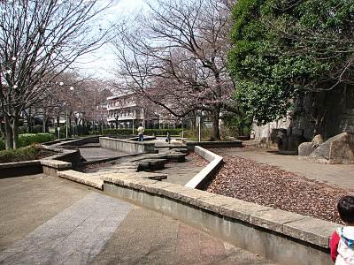 朝霞城山公園の水と遊べるであろう場所
