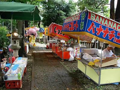 荻窪白山神社の例大祭 露天商その2