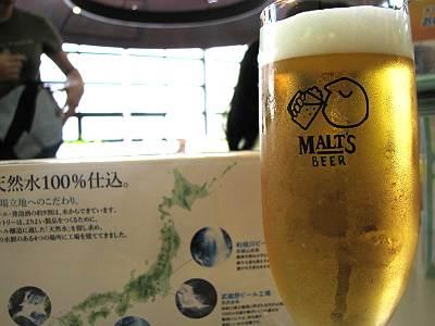 サントリー武蔵野ビール工場のモルツ