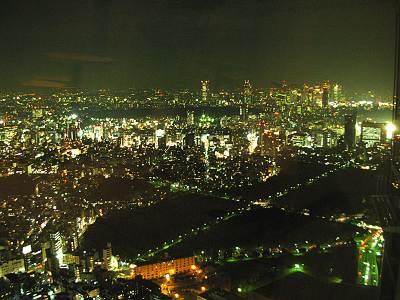 六本木ヒルズ展望台から新宿方面