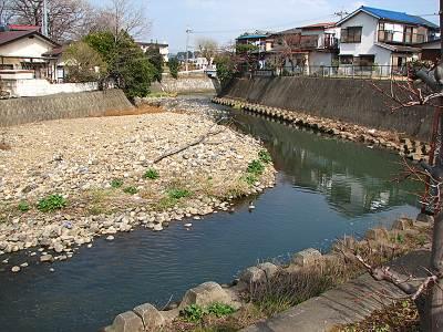 普段の柳瀬川