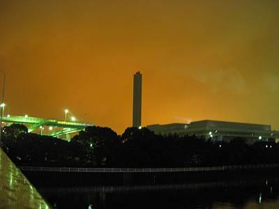 品川清掃工場の煙突