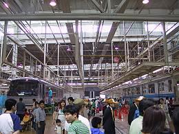 武蔵丘車両検修場内部