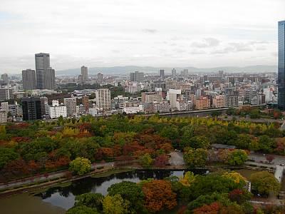 大阪城からの展望