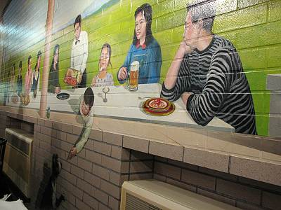 サイボクハム レストランの壁画