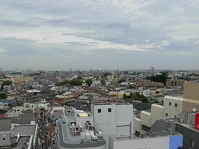 タウンセブン屋上からの眺望