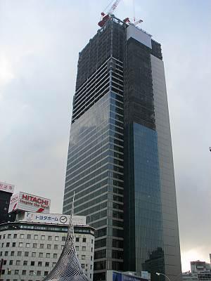 名古屋駅前に建設中のトヨタ本社ビル
