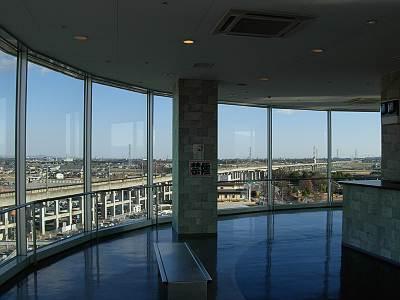 ピット100藤岡店の展望台内部