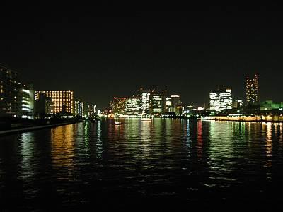 勝鬨橋から見た隅田川下流方面
