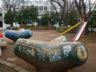 所沢 中山公園のテトラポット?