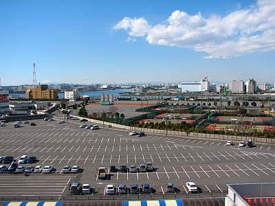 IKEA 船橋店屋上からの展望(海側)