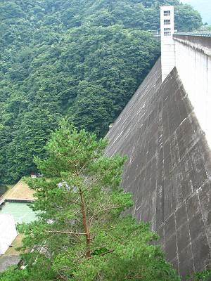 小河内ダムの堤体