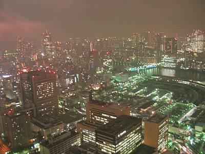 カレッタ汐留からのスモーキーな夜景2