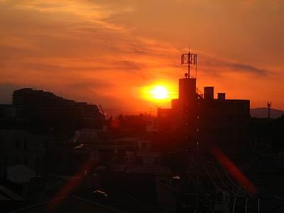 清瀬駅北口周辺からの夕焼け