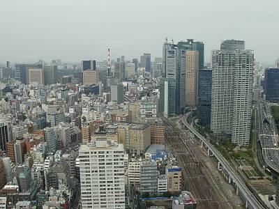 世界貿易センタービル展望台から汐留方面