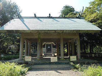 玉湖神社の取り壊される建物