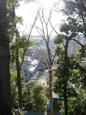 木曽呂の富士塚からの眺望