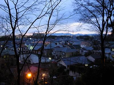 安松神社からの夕景