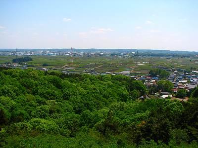 入間市桜山展望台からの眺望